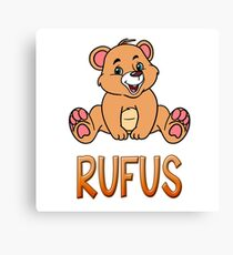 Rufus Bear Mug Canvas Print