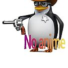 NO anime allowed penguin cowboy by Jack O TV