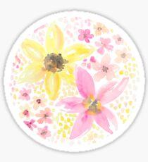 Aquarell Blumenmuster Sticker