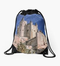 The Alcazar of Segovia Drawstring Bag