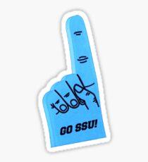 Sonoma State University Schaum Finger Aufkleber Sticker