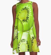 Kiwi-Druck A-Linien Kleid