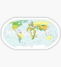 Lets get lost Sticker