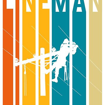 Retro Colorful Lineman by LeNew