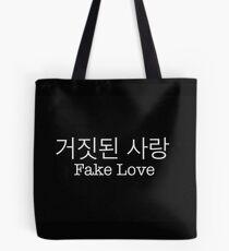 거짓된 사랑 - Fake Love - BTS Tote Bag