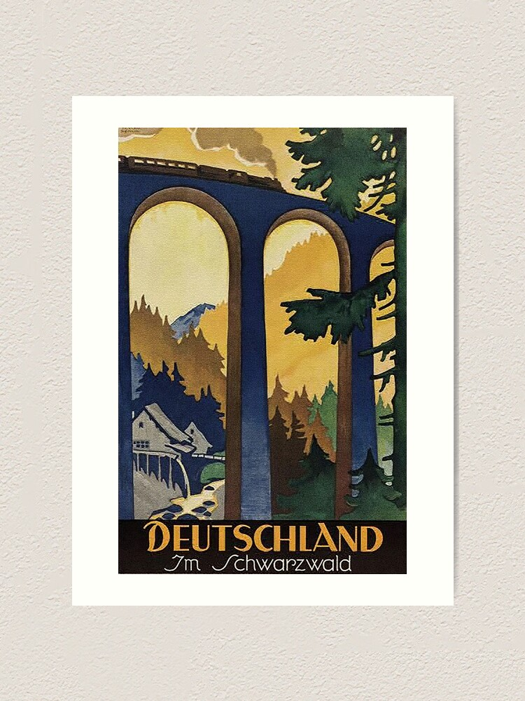 Alternate view of  Black Forest vintage travel advertisement Art Print