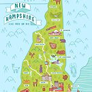 Map of New Hampshire by Amy Bouchard