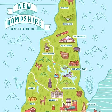 Map of New Hampshire by amyebouchard