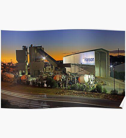 Hanson Concrete Plant - East Perth  Poster