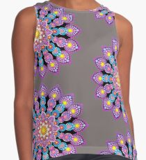 Purple Dot Mandala - Art&Deco By Natasha Contrast Tank
