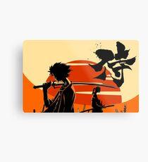 Sunset Samurai Metal Print