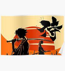 Sonnenuntergang Samurai Poster