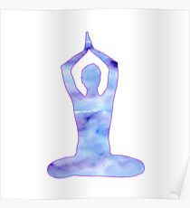 yoga meditation vector Poster