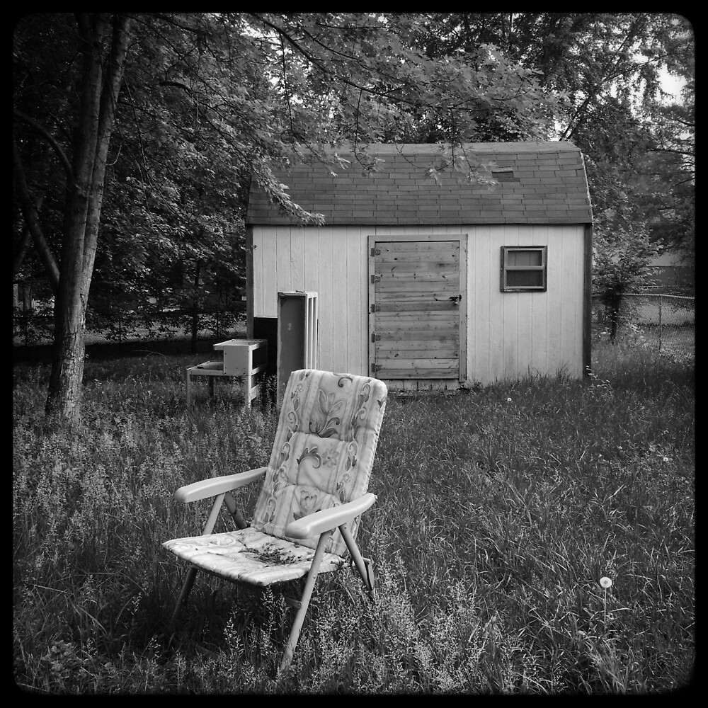 Back Yard Chair and Shed by Robert Baker