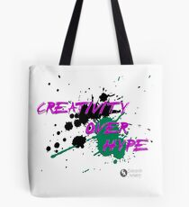 Creativity Over Hype (Purple/Green) Tote Bag