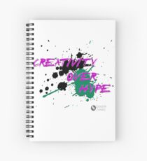 Creativity Over Hype (Purple/Green) Spiral Notebook