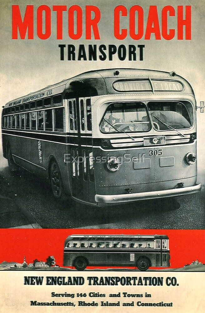 Vintage Bus Travel: New England Area  by ExpressingSelf