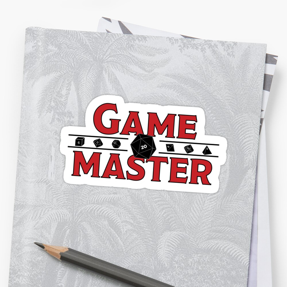 Game Master Sticker by JPDesignsStuff