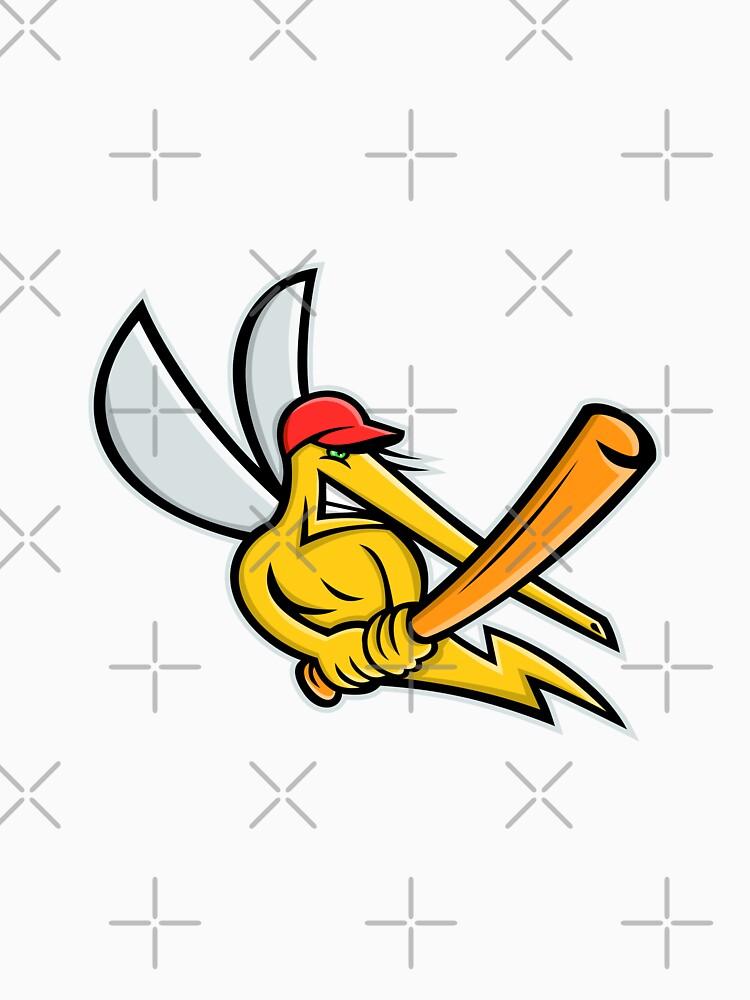 Mosquito Baseball Mascot by patrimonio