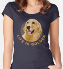 Life Is Golden, Retriever That Is Women's Fitted Scoop T-Shirt