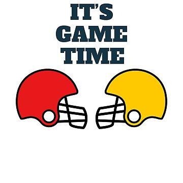 It's Game Time Football Helmet by kbasandra