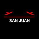 San Juan Puerto Rico Airport Plane Dark Color by TinyStarAmerica