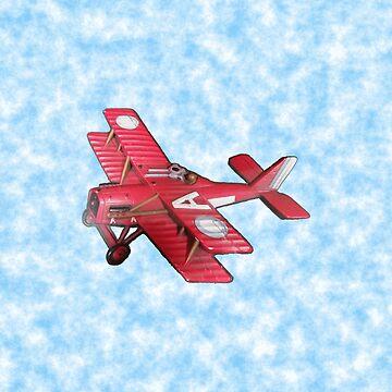 Red Biplane by joehx
