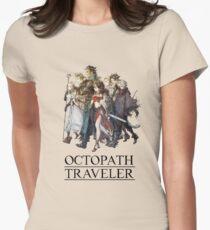 Octopath Traveler® - Reisende & Logo (Schwarz) Tailliertes T-Shirt