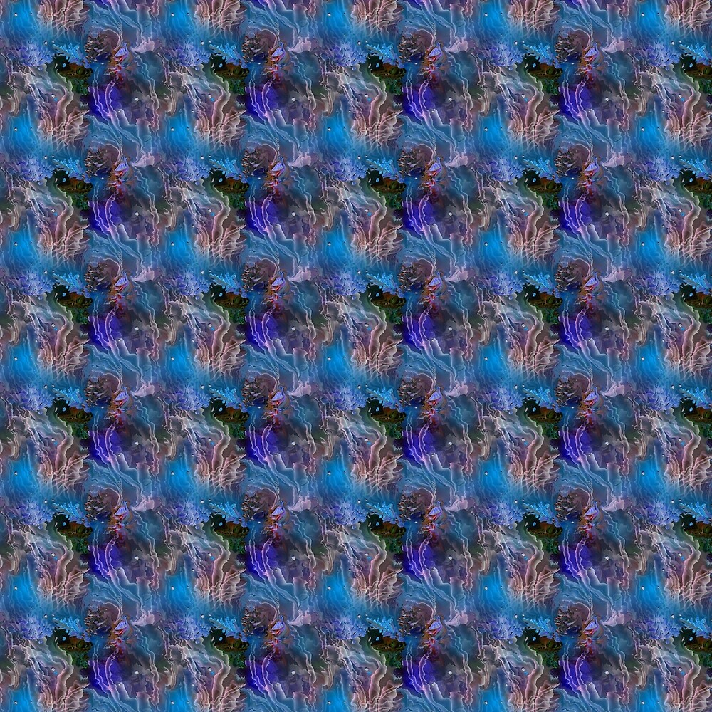 Pattern Blue Sea 2 by Natalia  Rudzina
