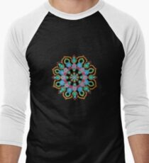 Red Star Dot Mandala - Art&Deco By Natasha  Men's Baseball ¾ T-Shirt