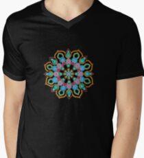 Red Star Dot Mandala - Art&Deco By Natasha  Men's V-Neck T-Shirt