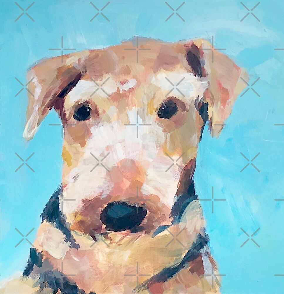 Asta blue portrait  by Maggie  Carroll
