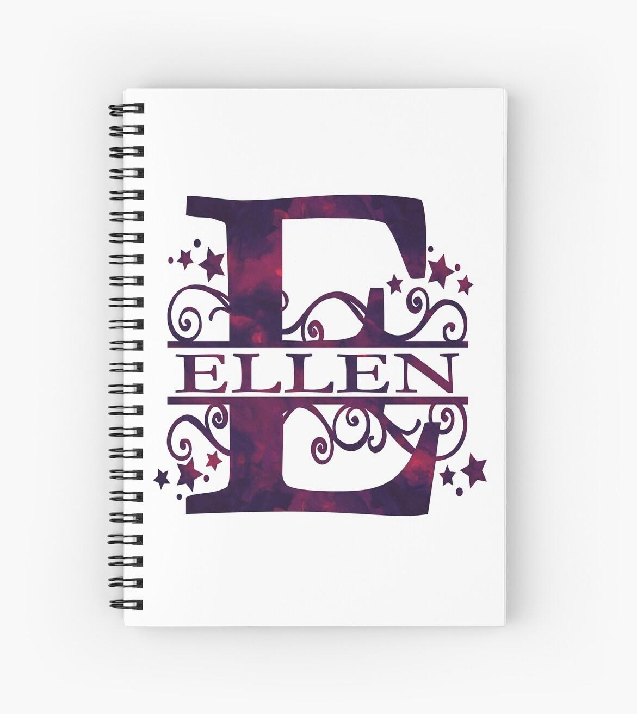 Ellen | Girls Name and Monogram in Dark Purple by PraiseQuotes
