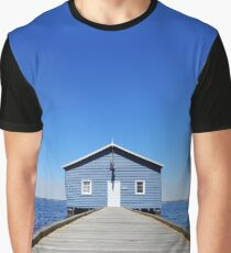 Blue House - Crawley Boat Shed Graphic T-Shirt