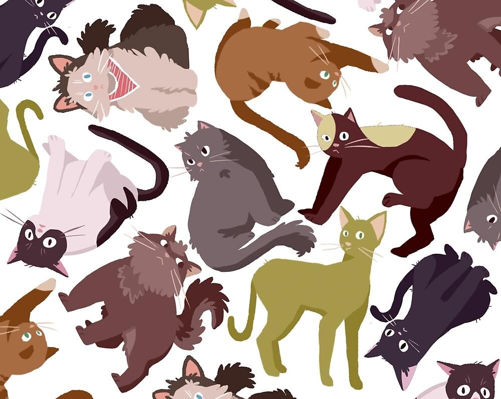 cartoon cat pattern by Amanda Pszczolkowski
