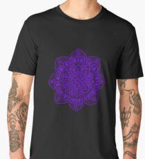 Blue Mural Mandala - Art&Deco By Natasha Men's Premium T-Shirt