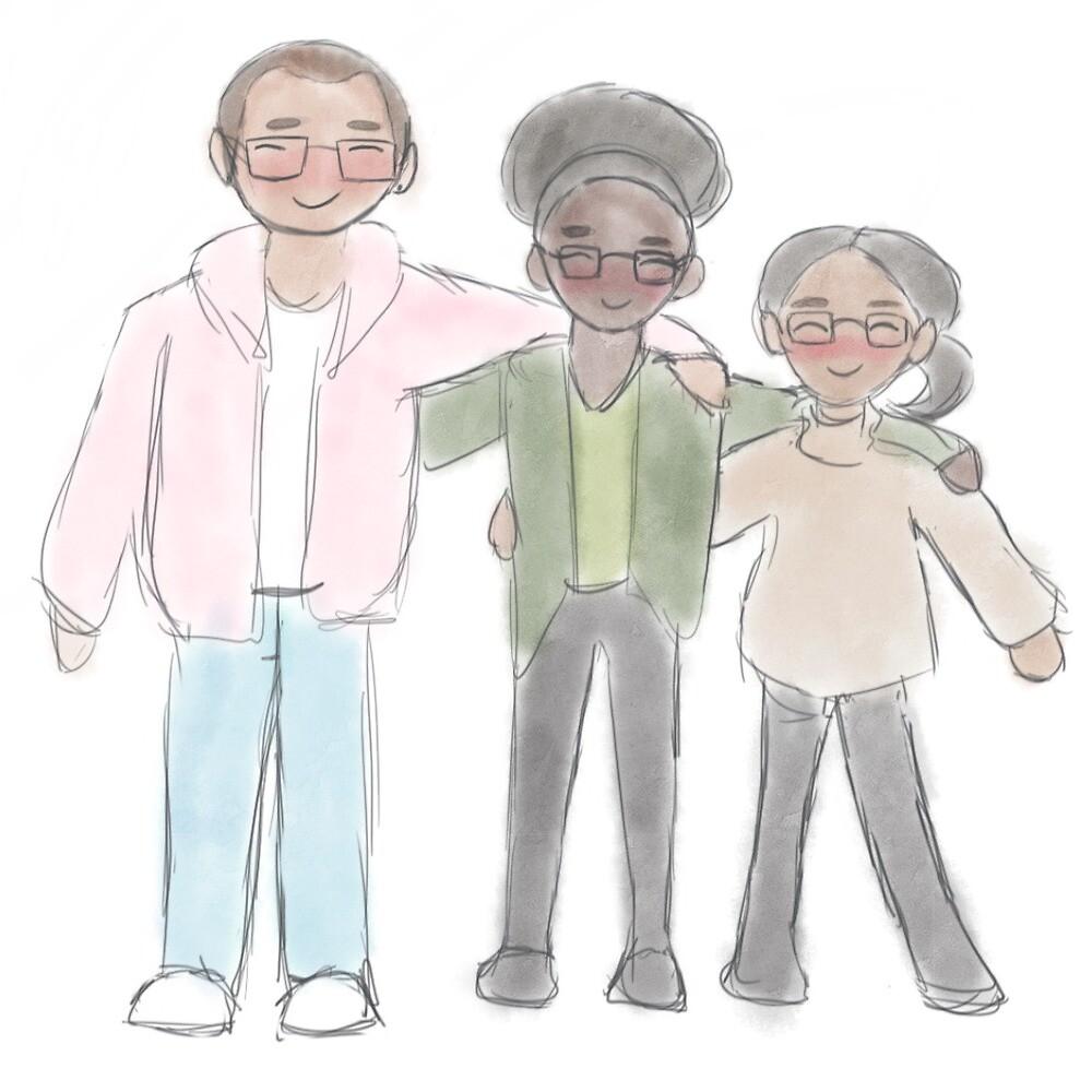 chosen family. by busybeecrafts