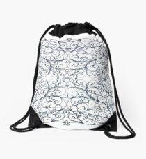 Drawing Day Inky Spirals V1 Drawstring Bag