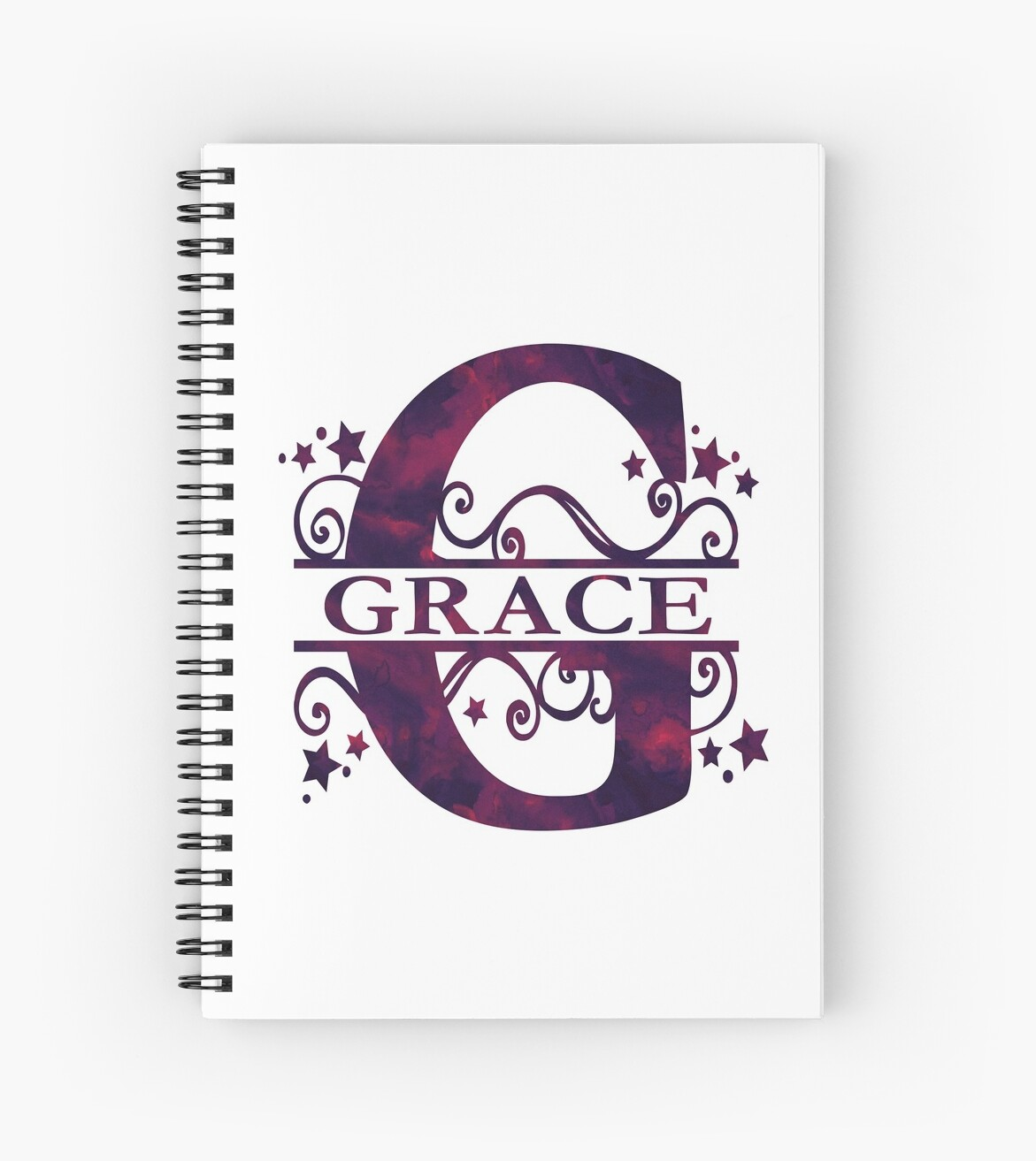 Grace | Girls Name and Monogram in Dark Purple by PraiseQuotes
