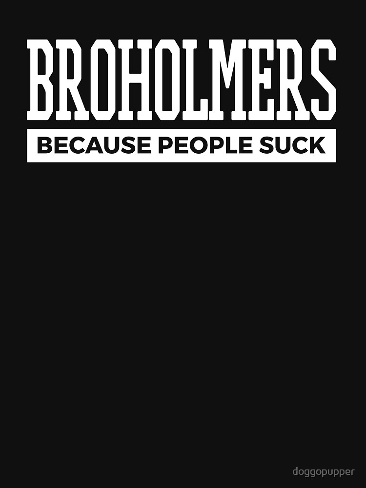 Broholmers Dog Tee Cute Funny Dog Gifts by doggopupper