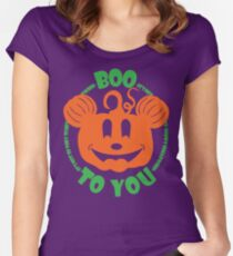 Boo To You Women's Fitted Scoop T-Shirt