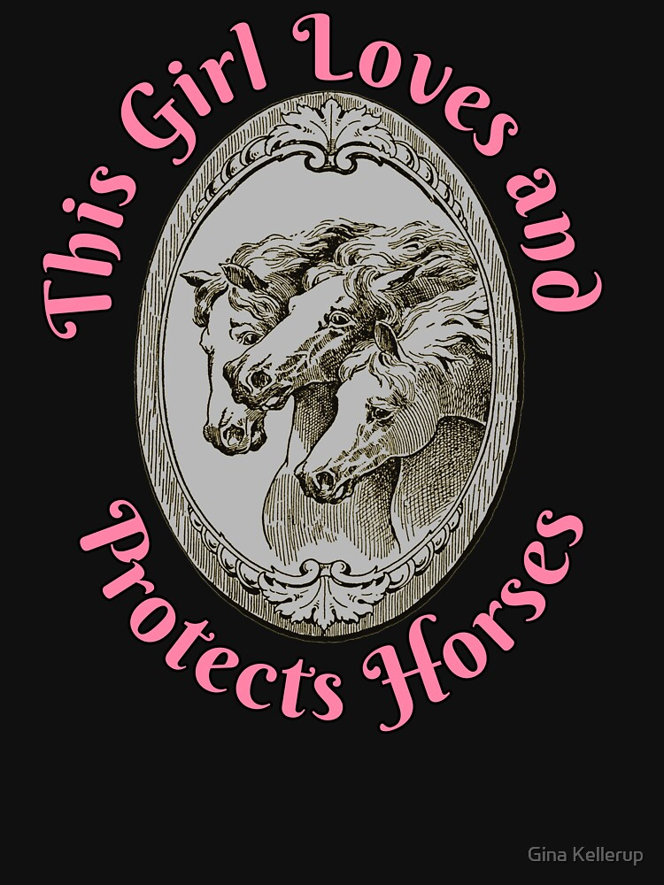 Horse Lover This Girl loves and Protects Horses by KanigMarketplac