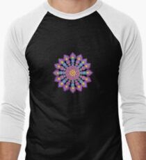 Purple Dot Mandala - Art&Deco By Natasha Men's Baseball ¾ T-Shirt