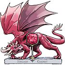 January Garnet Dragon Birthstone Illustration by Stephanie Smith