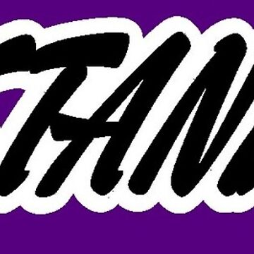 "Becky Nation ""The Mac"" Purple Block Sticker by TheBeckyNation"