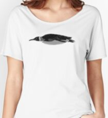 Aquatic Animals - Black King Penguin Women's Relaxed Fit T-Shirt