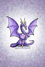 Birthstone Dragon: February Amethyst Illustration by Stephanie Smith