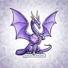 Birthstone Dragon: February Amethyst Illustration by Stephanie Smith
