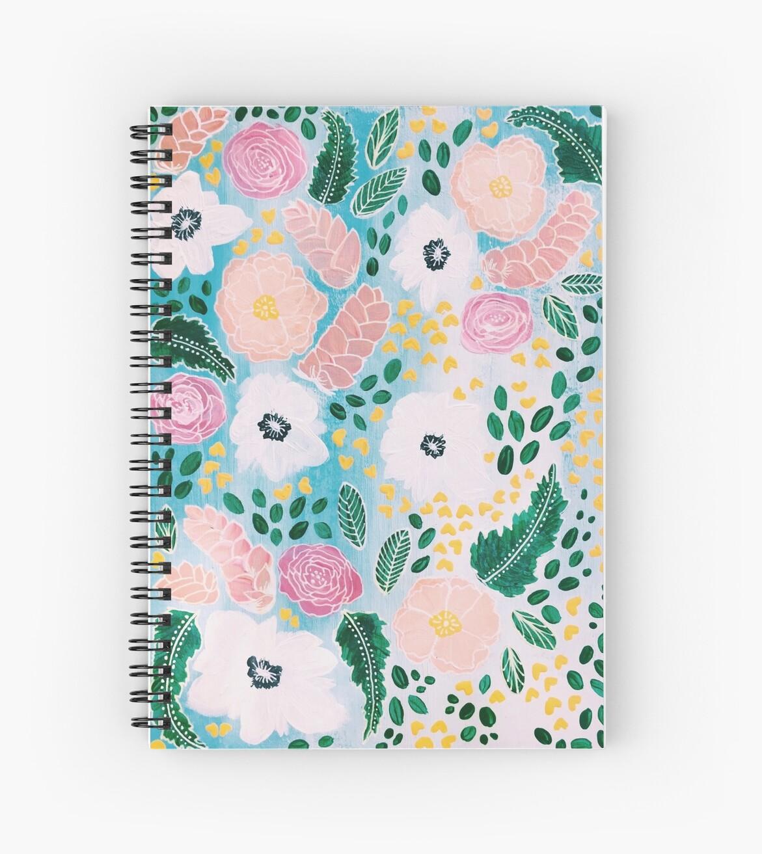happy spring floral by scribblesbymadi