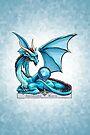 Birthstone Dragon: March Aquamarine Illustration by Stephanie Smith